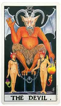 塔罗牌大阿尔卡纳的第15号牌—恶魔牌详细解读